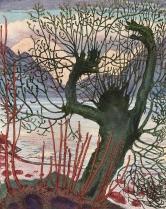 Nikolai+Astrup+(1880-1928)+Spring+Night+and+Willow+Goblin